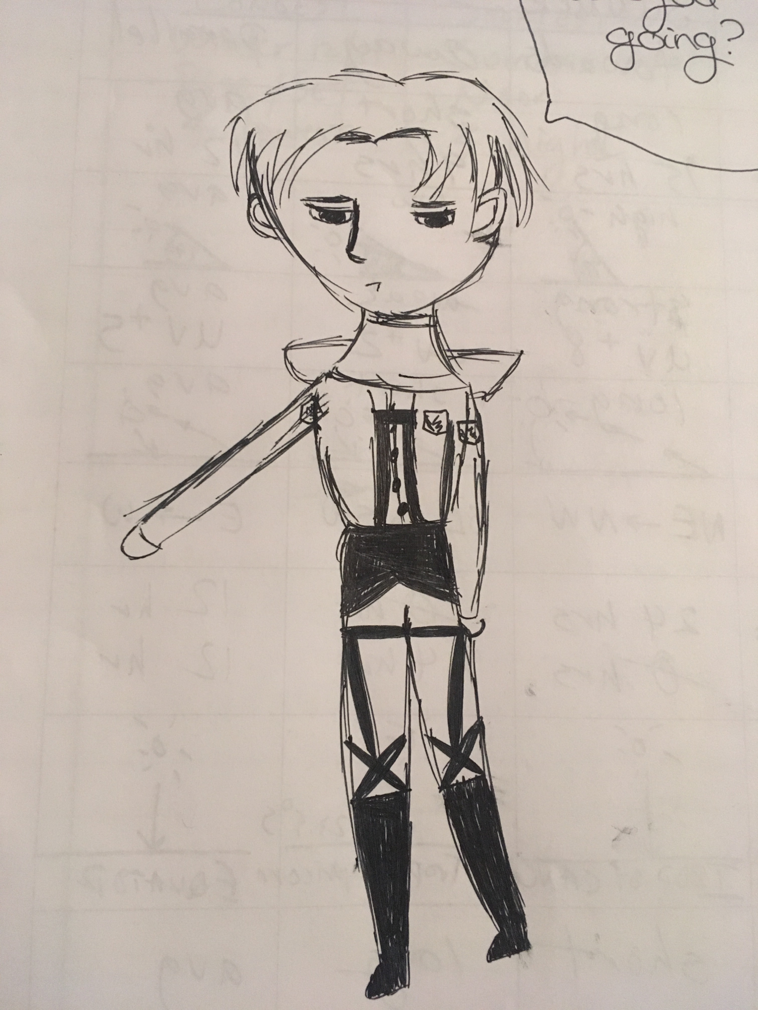 Got any suggestions for how to possibly draw Levi any better, cause it's okay but I'm not satisfied.
