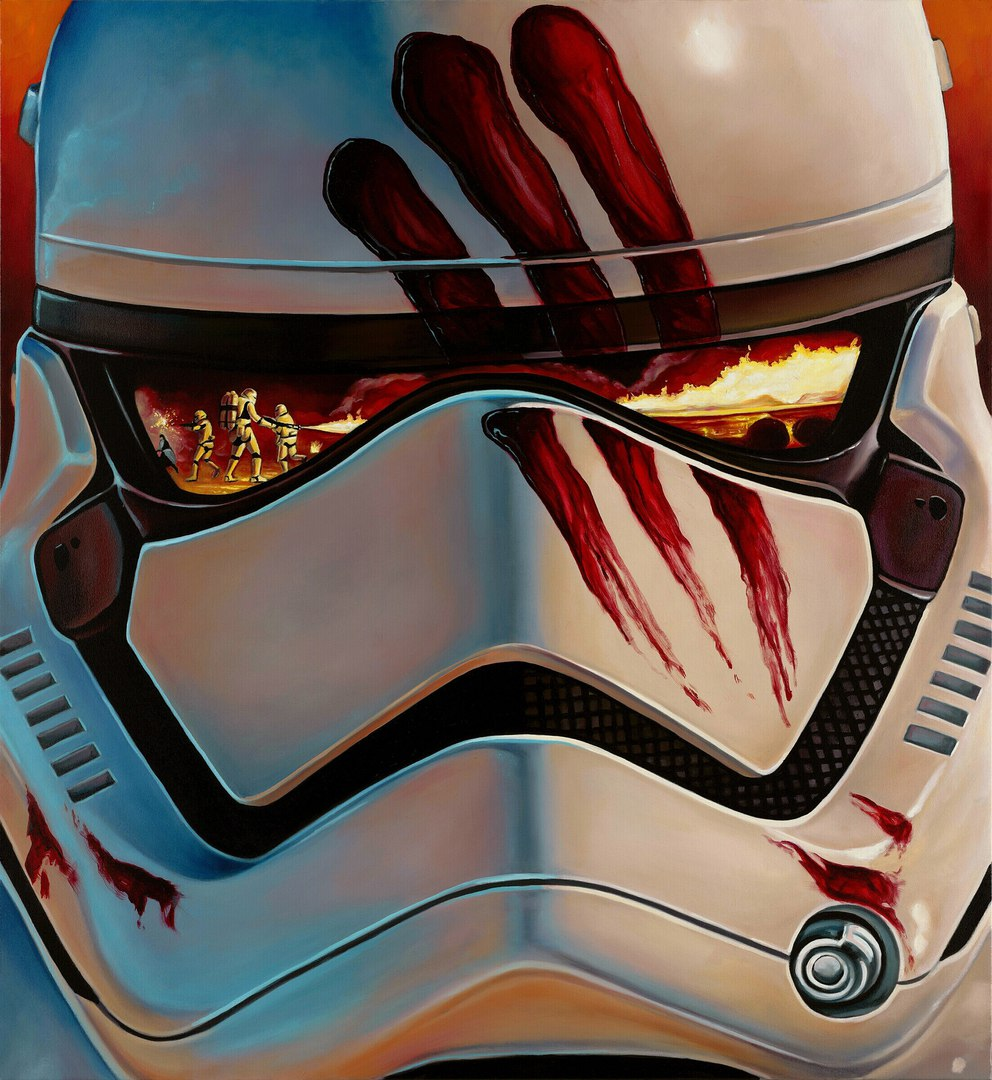 Found these super cool pics on the GeekArt Star Wars app.