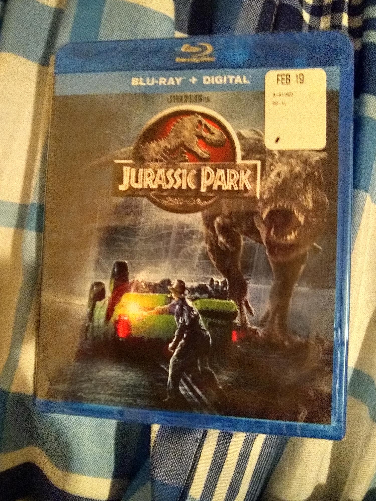 I bought the Original Jurassic Park Movie on Blu-ray at Wal-Mart today