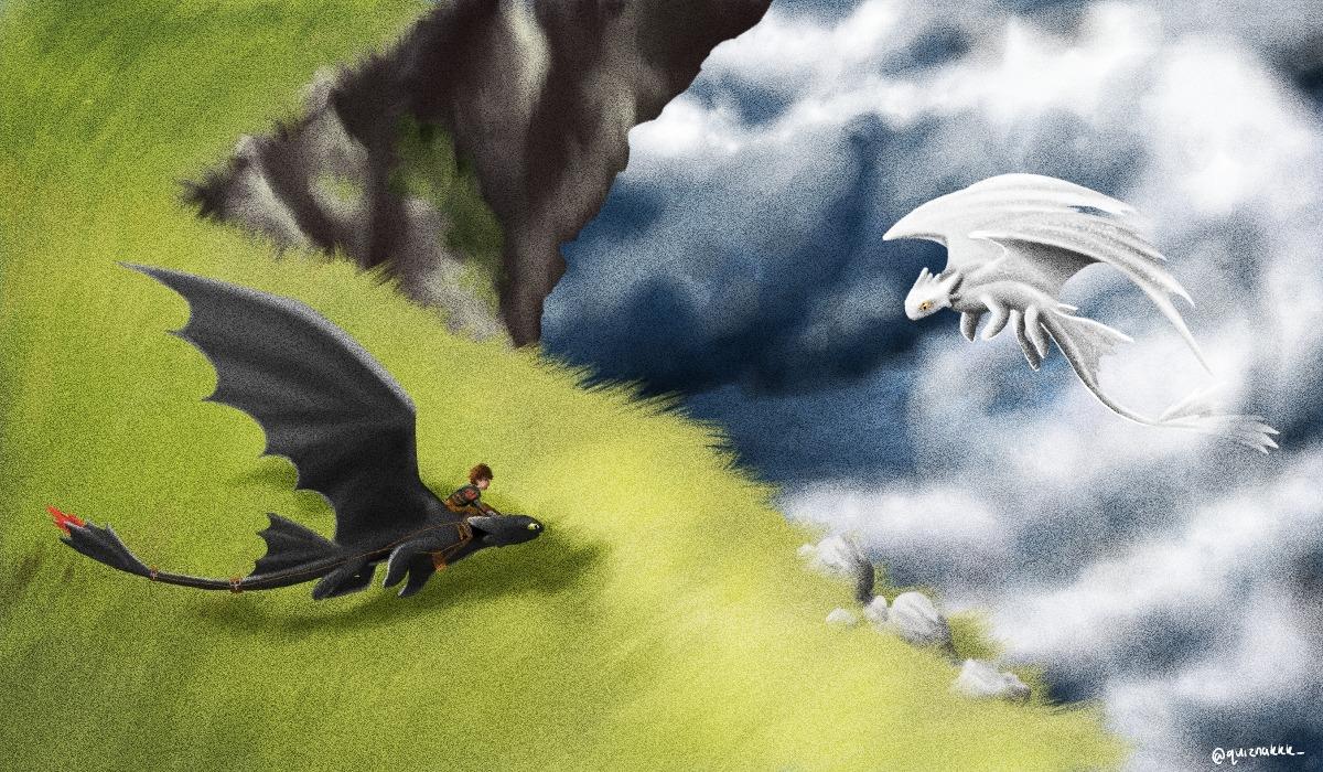 Os imagináis un encuentro así en como entrenar a tu dragon 3