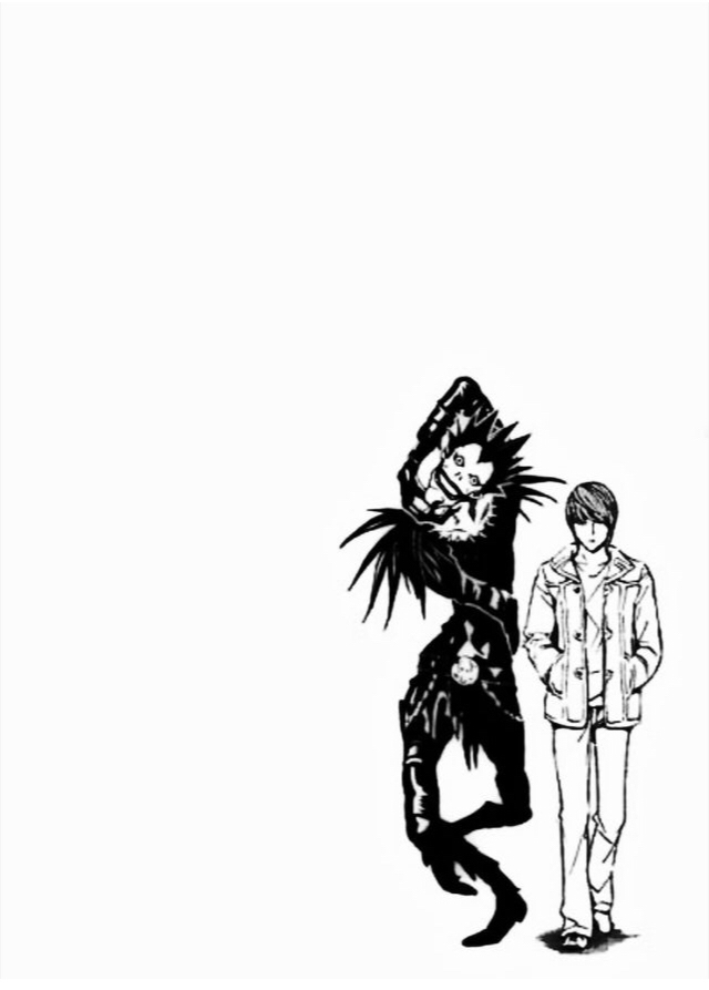 Death note Light and Ryuck