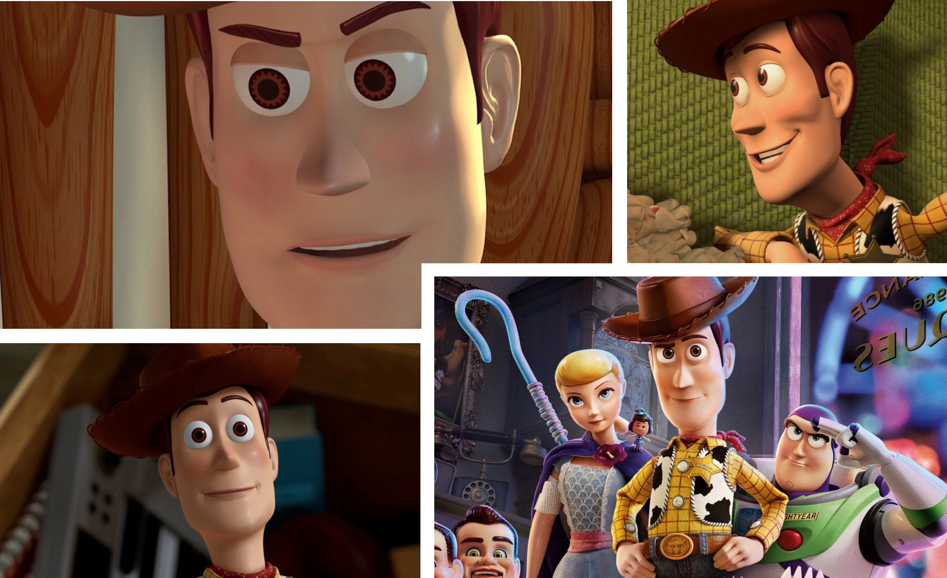 Woody - how has he changed so little aesthetically when he's grown so much as a toy?