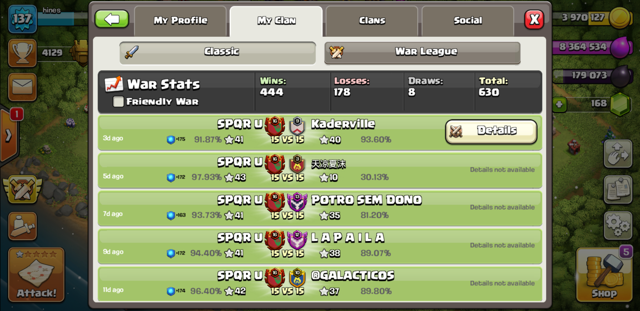 Any serious war players looking for a new, we are recruiting. 75% win rate with 400 + wins