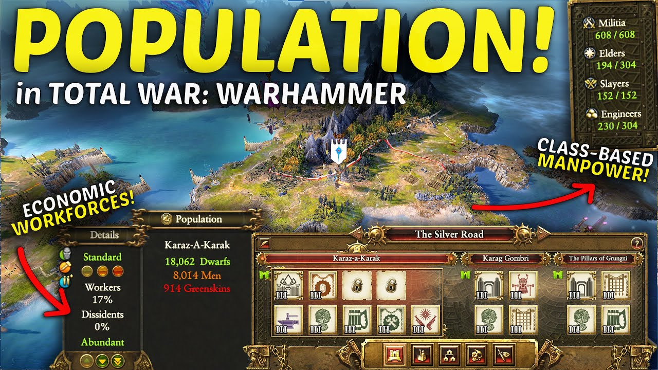 POPULATION in Total War: WARHAMMER 2 - Modded Gameplay