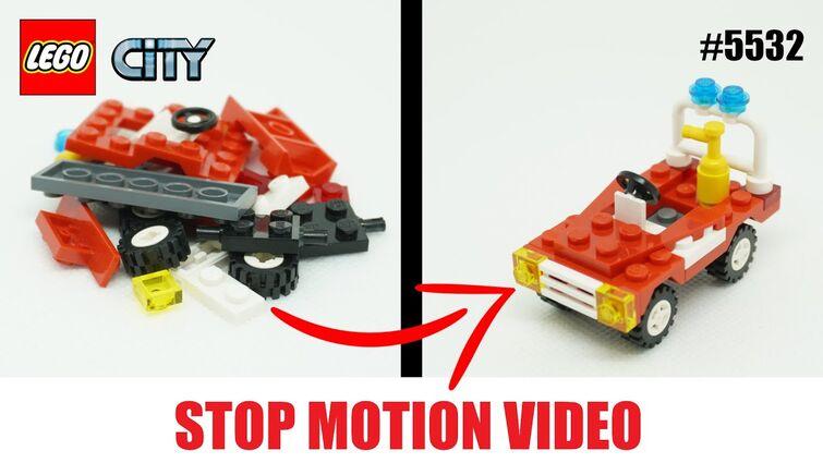 LEGO® City - 5532 Fire Car 🚒 (2005) - Stop Motion Build