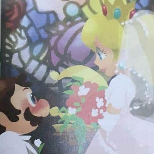 Un boceto del libro de arte oficial de Super Mario Odyssey muestra a Mario y a Peach casándose - Nintenderos.com - Nintendo Switch, 3DS, Wii U