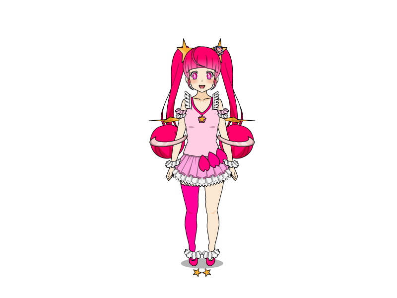 Ughhhh...Attempt at Cure Star in KISEKAE2 (WARNING: UGLY)