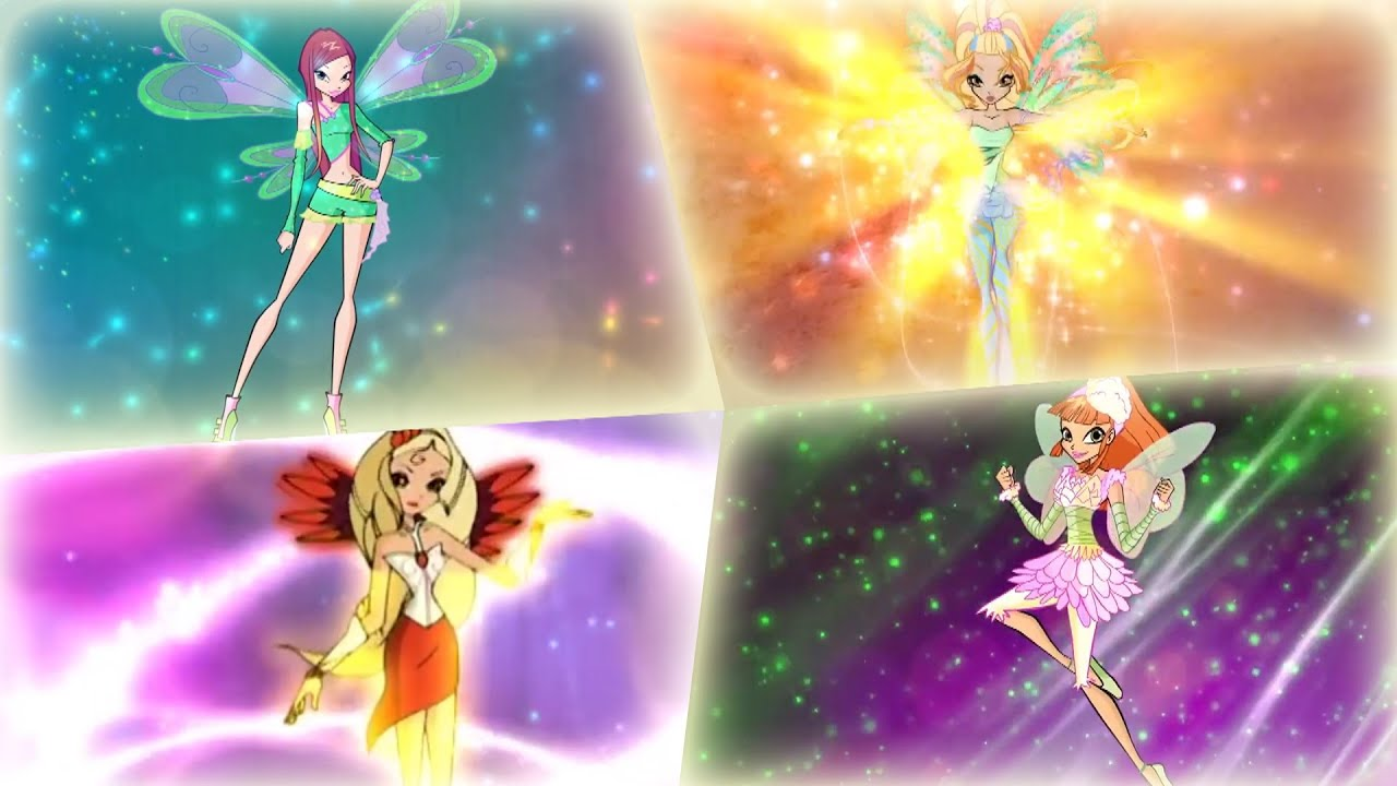 Winx Club - All Side Fairies/Characters Transformations! HD!