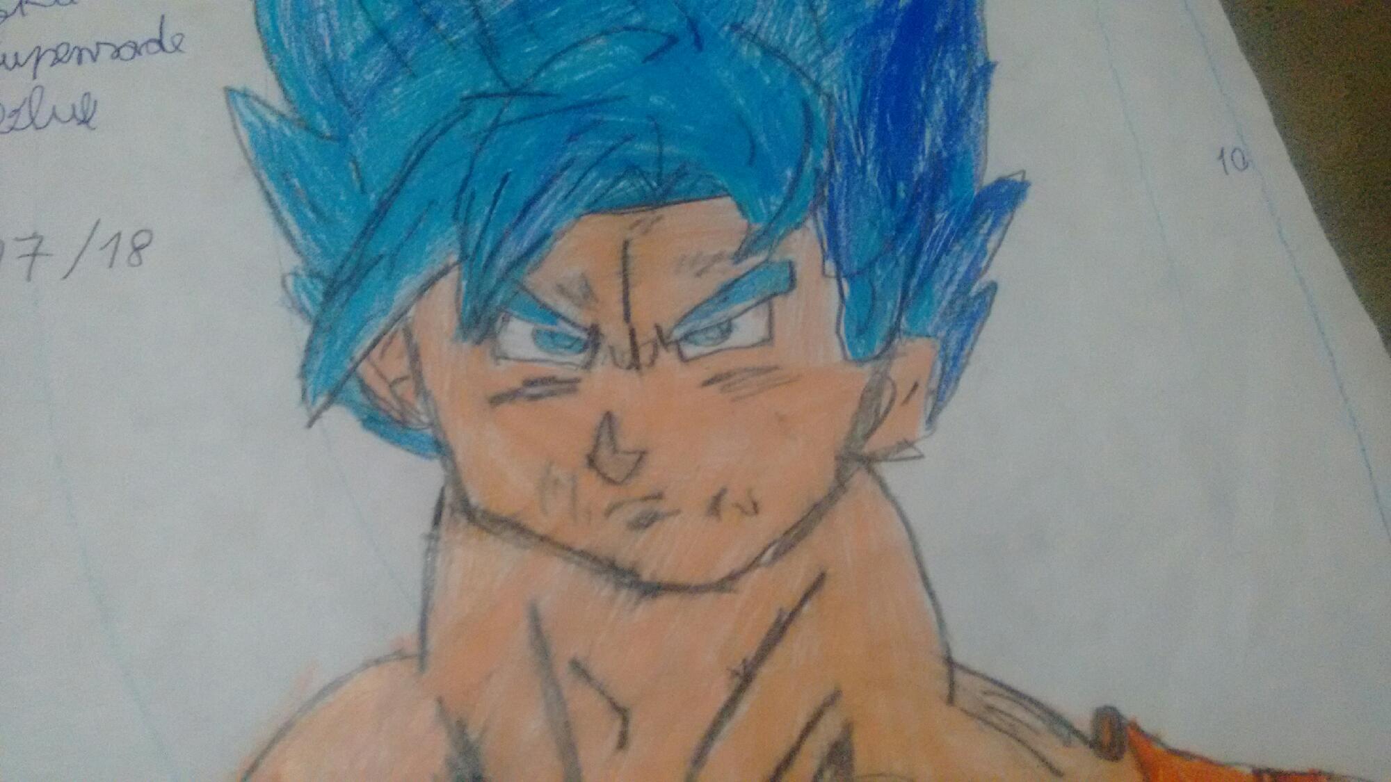 Olha o meu. Goku super Saiyajin  blue