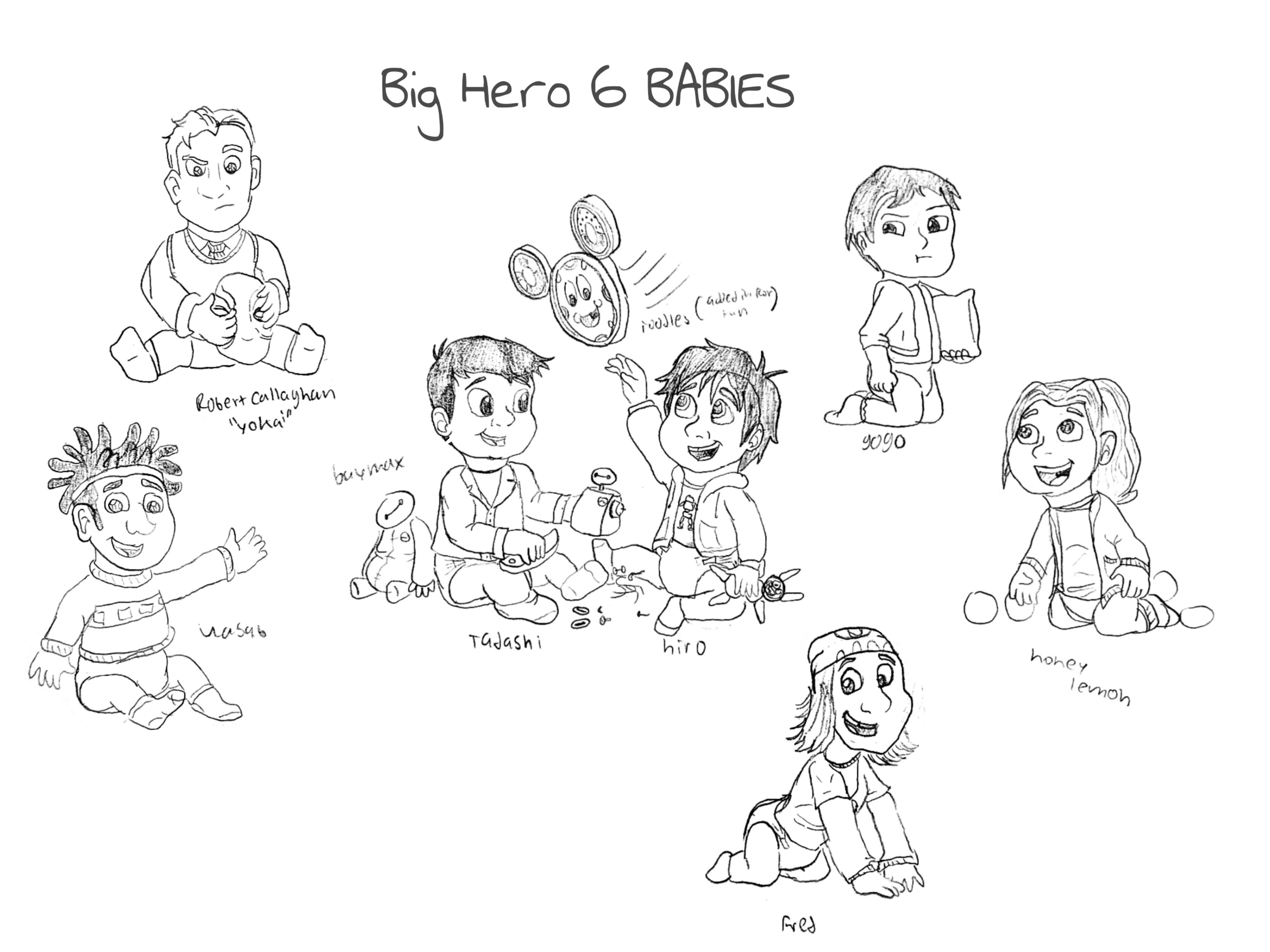 The Big Hero 6 babies are Finally here (Read my comment below for challenge and the rules)