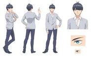 Fuutarou Uesugi design draft