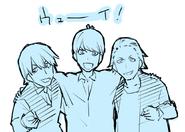 Yuusuke, Fuutarou and Maeda special sketch (7 March 2019)