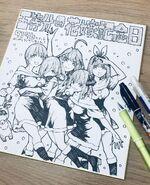 Nakano Quintuplets Illustration Winter 2019