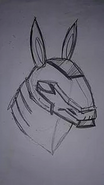 Armodrillo (Face) Concept Art
