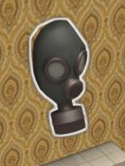 Gas mask outside