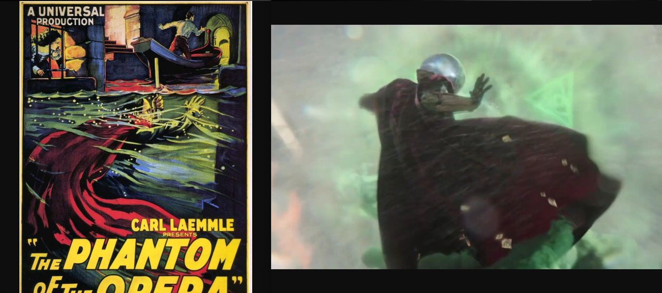 Mysterio Has a Nice Resemblance to the Phantom of the Opera