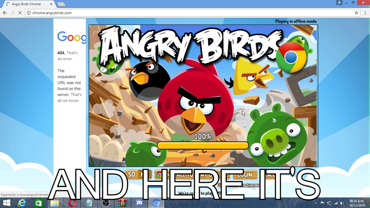 How to play Angry Birds Chrome in 2019 (Hi TCRF)