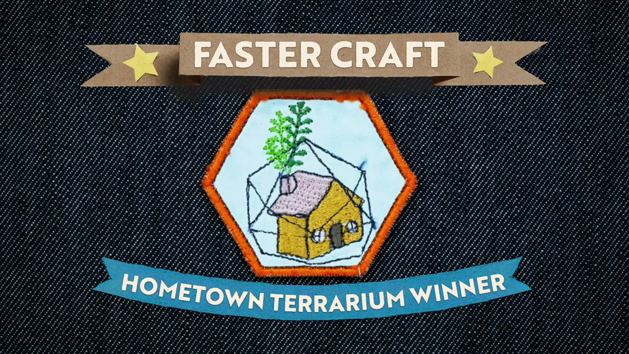 Hometown Terrarium faster craft badge