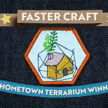 Hometown Terrarium faster craft badge