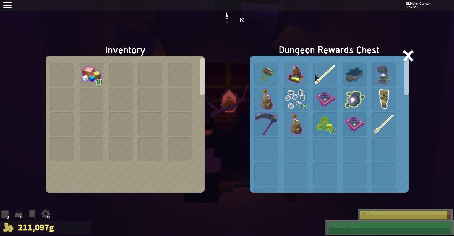 An add to the dungeon chest rewards list