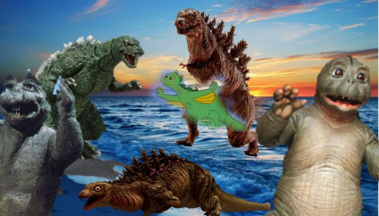 La pelea de todos los hijos o fases de Godzilla