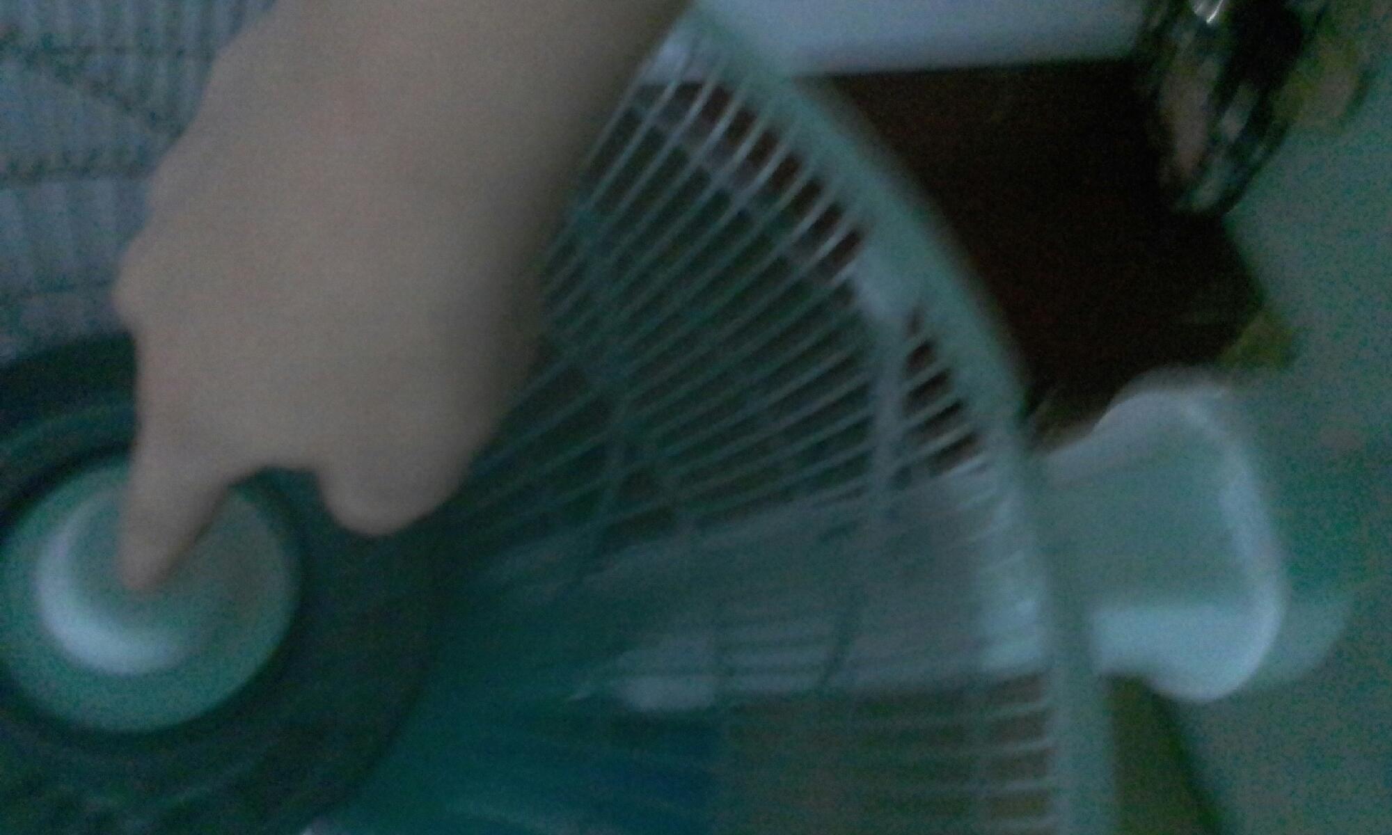 coloquei o dedo no ventilador