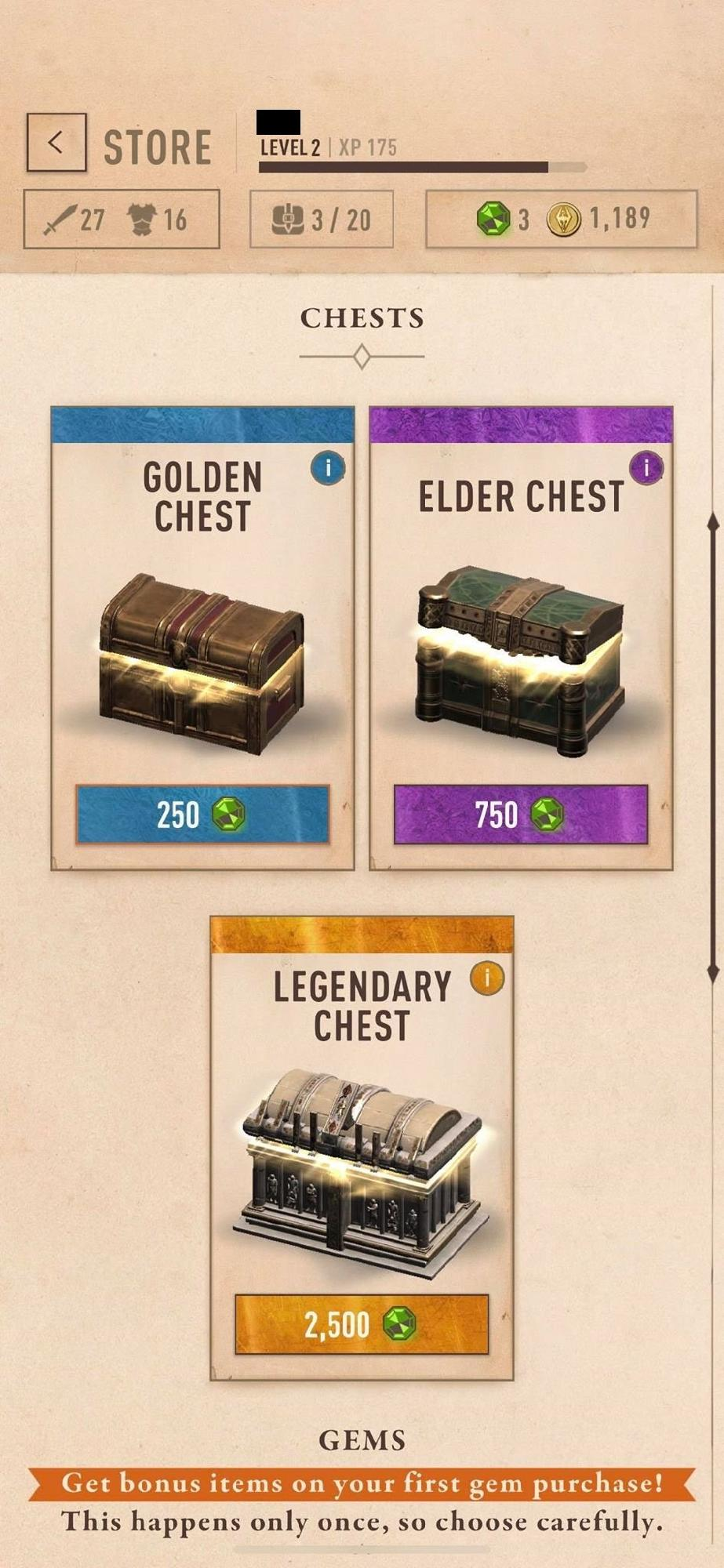 Loot Boxes In TES: Blades