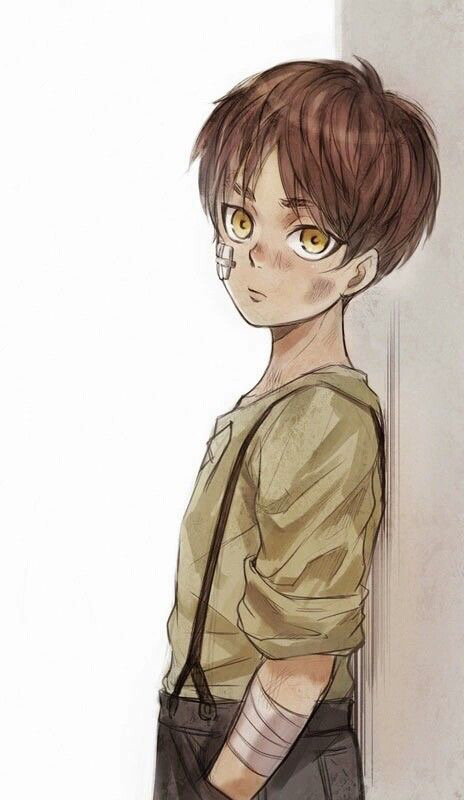 Eren got into a fight again. Of course he's really tough and refuses to give up