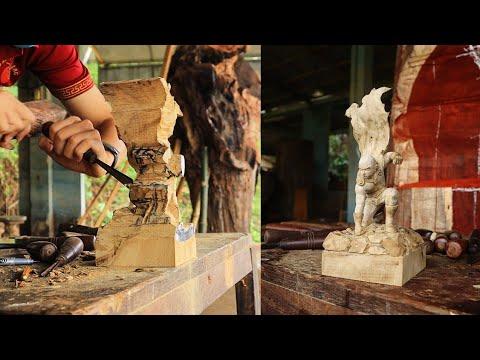 Điêu Khắc Saitama wood carving - One punch man sculpture - Nghệ nhân Âu Lạc 11