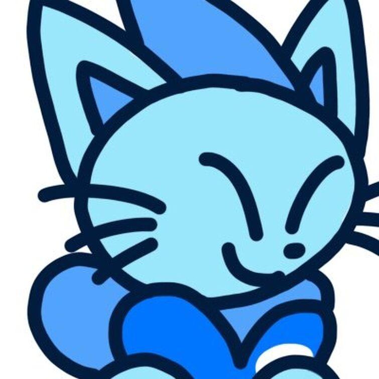 BlueAquaCat but 100% B L U E on Twitter
