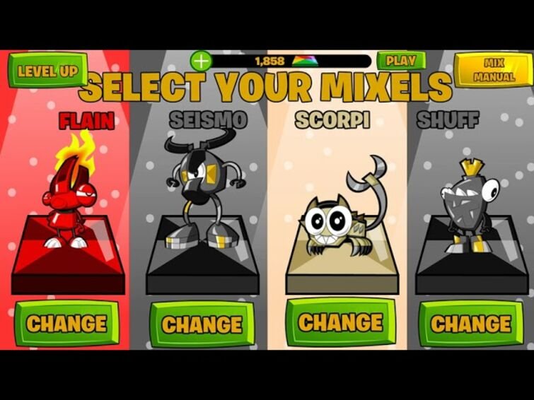 If i Made the Calling All Mixels Selection Screen