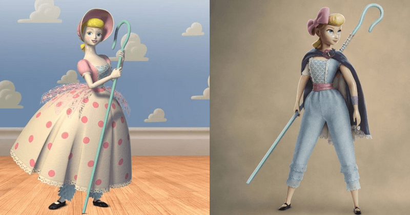 Bo Peep's evolution: how much can we extrapolate just based on her attire?