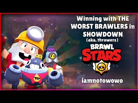 Winning with the WORST BRAWLERS in SHOWDOWN!!!| Brawl Stars