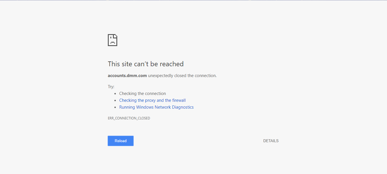 The Website won't let me on anymore?
