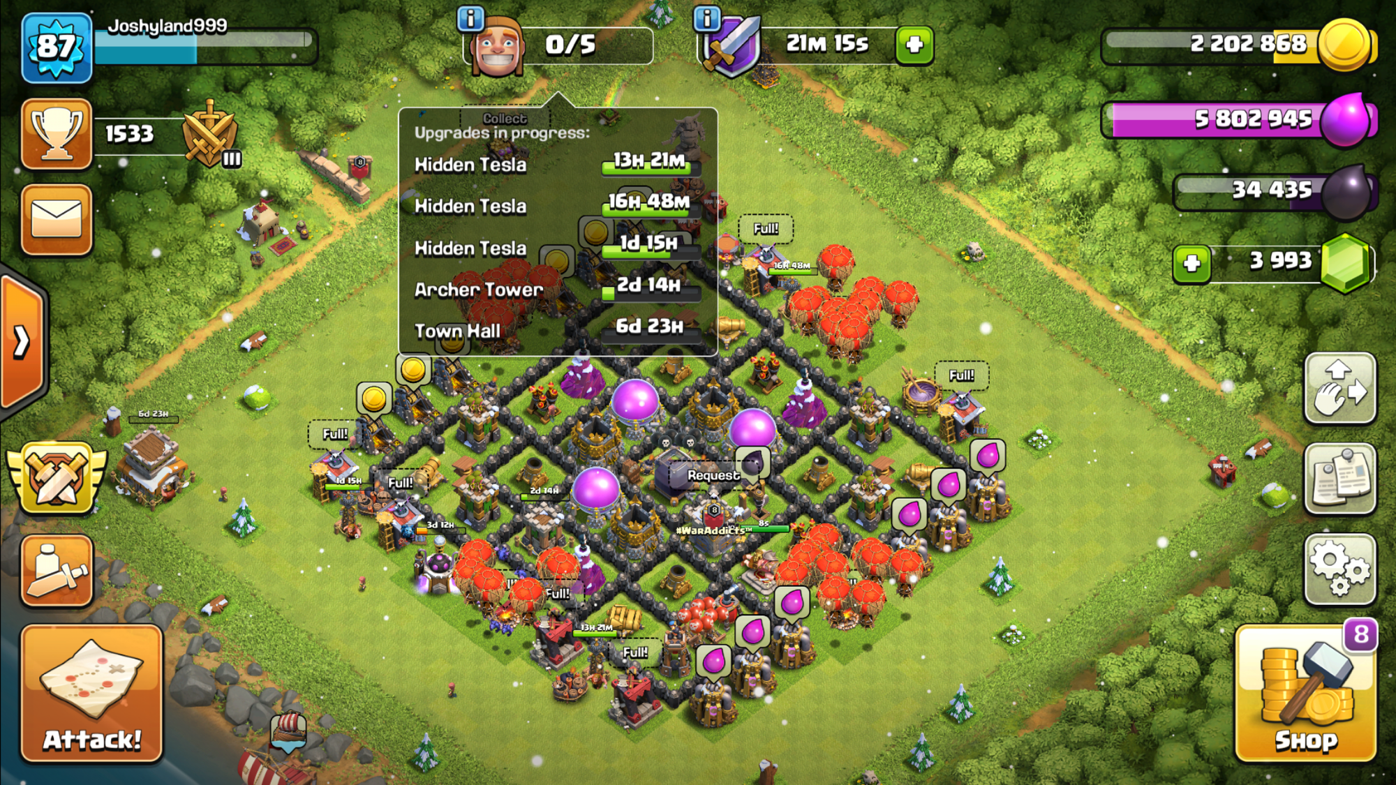 MAX Townhall 8 going to 9 in 7 days, Any tips ?