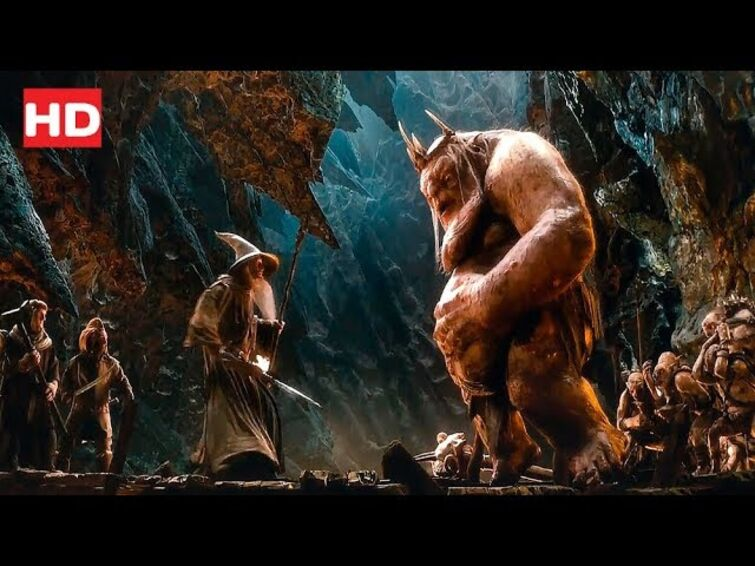 Dwarves Escape From Goblins ''The Hobbit An Unexpected Journey'' (2012)