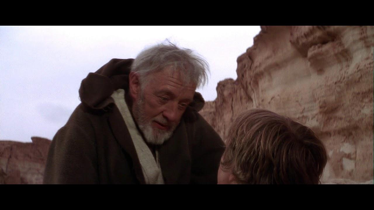 Luke Skywalker conoce a Obi Wan Kenobi, escena HD castellano