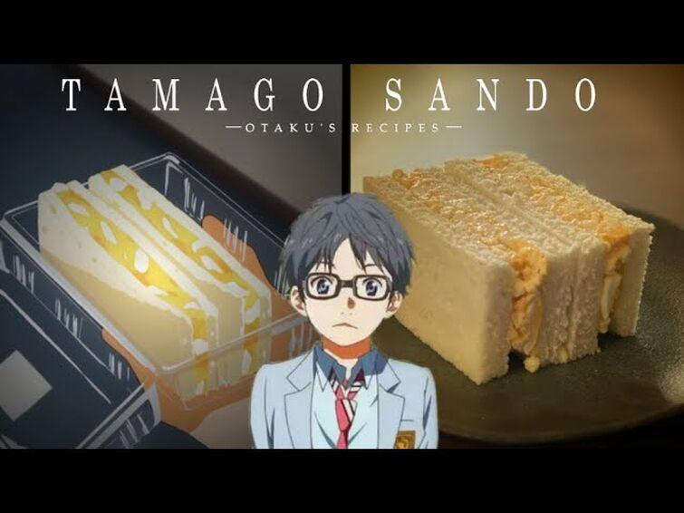 Tamago Sando (Shigatsu wa Kimi no Uso) - Receita de Sanduiche Japonês de ovo (Japanese Egg Sandwich)