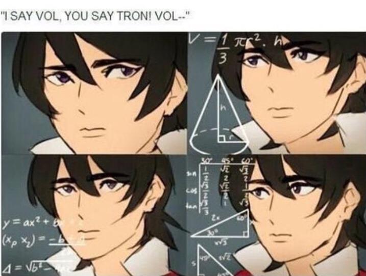 I say vol, you say tron! Vol.....