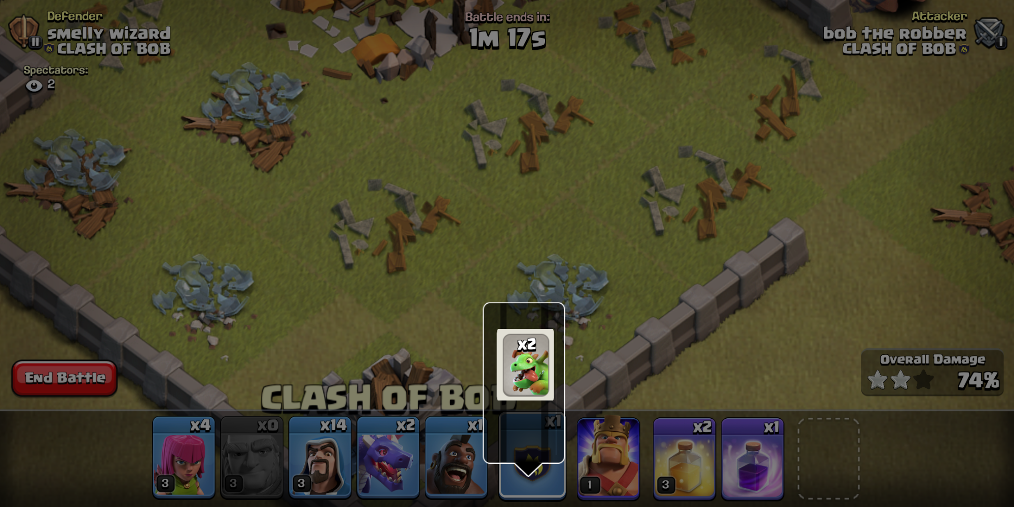 Bug: holding on the clan castle yields this off centered, off colored icon there for no reason