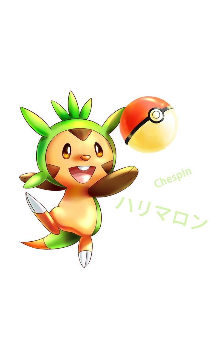 Chespin o pokemon tipo planta