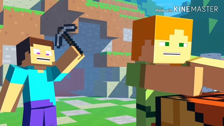 YTP - NEVER DIG STRAIGHT POOP - Minecraft life of Alex and Steve - Minecraft Animation