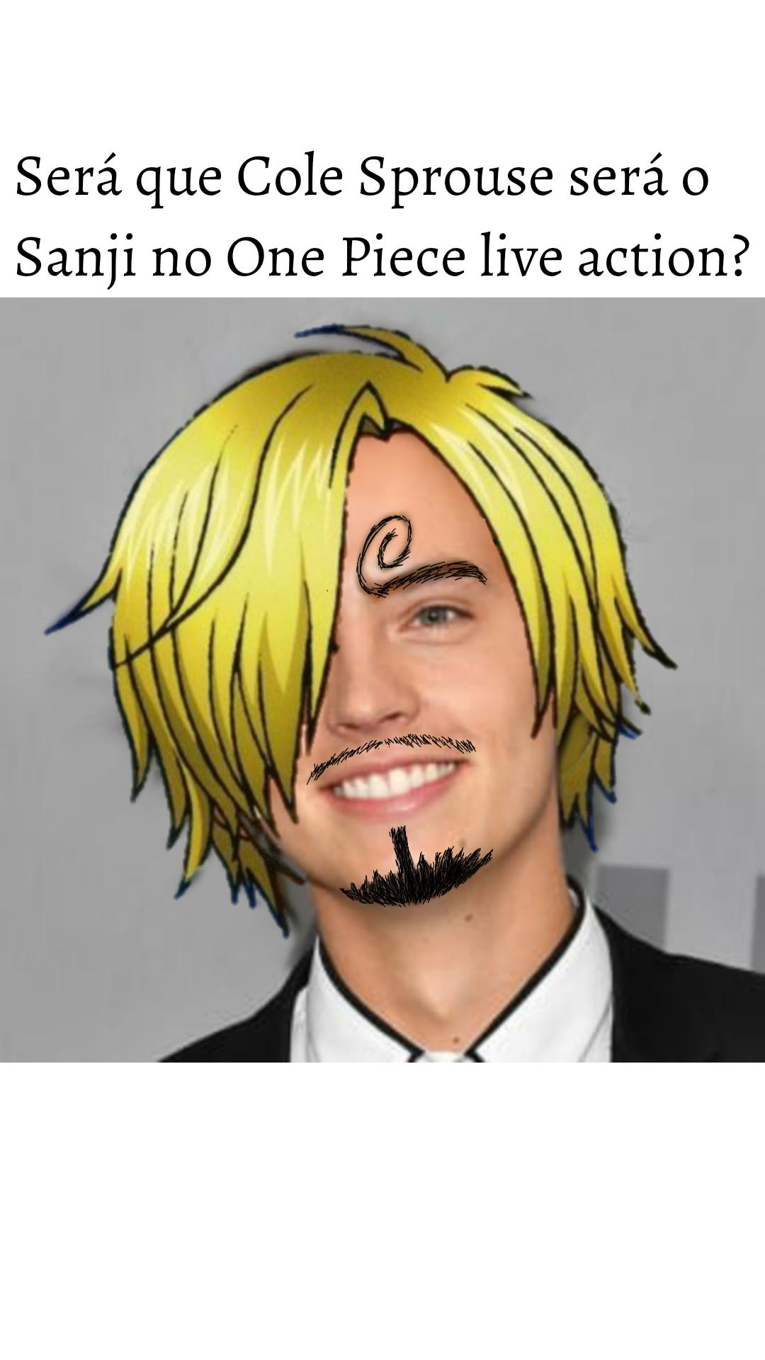 Cole Sprouse como Sanji?