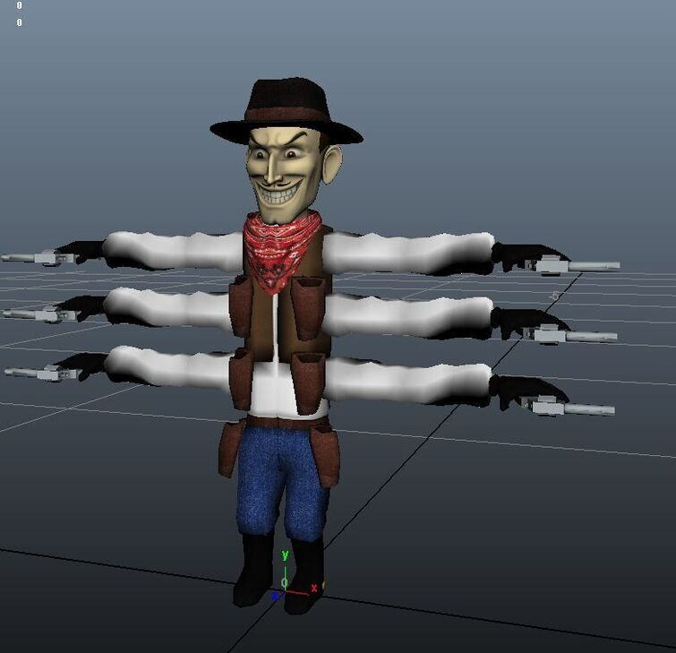 Six-Shooter's Model for OctoberGames' Puppet Master Game
