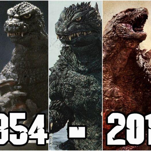 La Evolución del Diseño de Godzilla 1954 - 2019 | Todas las Versiones de Godzilla | TL2Bie