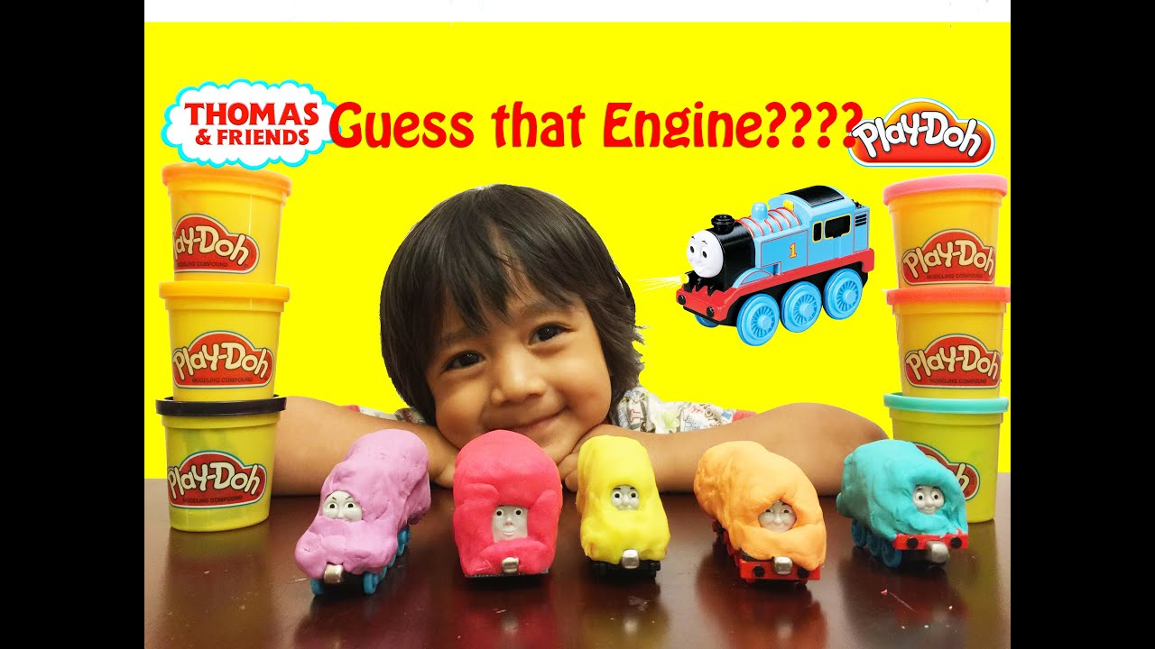 Ryan plays with Play doh Thomas & Friends Guess Who