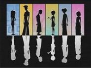 Silhouettes of the 6teen gang in the show's theme song