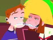 Darth and Julie kiss