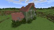 Brick house ruined exterior 0