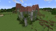 Brick house ruined exterior 1
